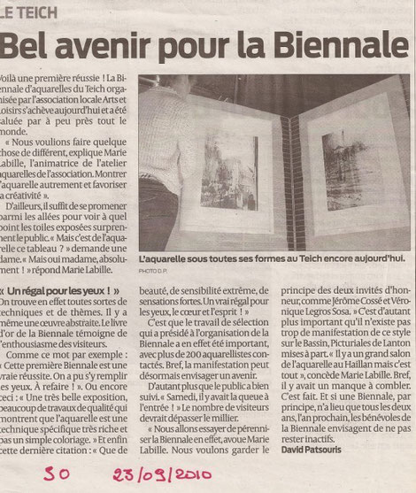 Sud-Ouest - 23/09/2010
