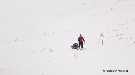 """Winterwanderung  in Schweden am """"Kungsleden"""""""