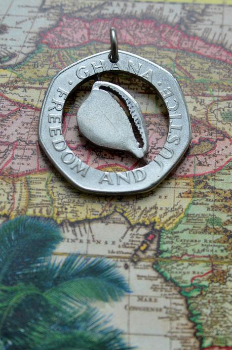 Münzsägewerk Katrin Thull   Ghana - Muschel