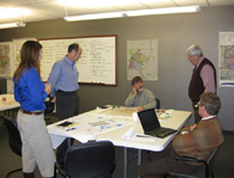 Planning session for a zero waste, net zero energy eco-industrial development plan.