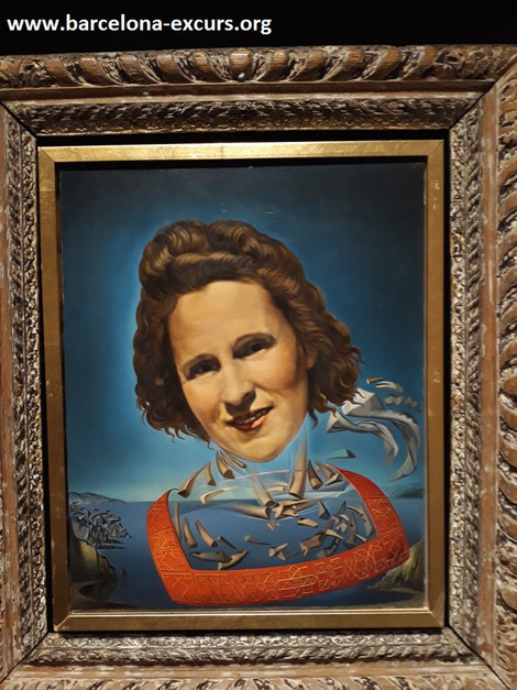 Сальвадор Дали. Портрет Гала с признаками оносороживания