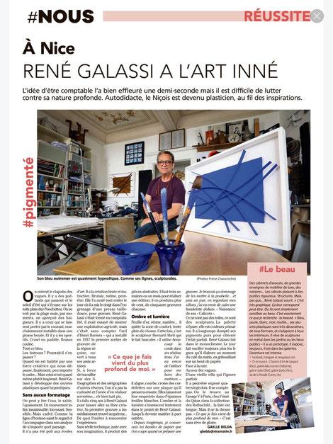 René Galassi, grand choix d'oeuvres, best art gallery, artiste nicois, bas relief, travail du papier