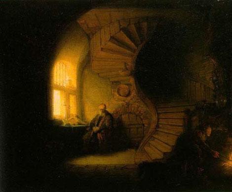 rembrandt-philosophe-en-médidation
