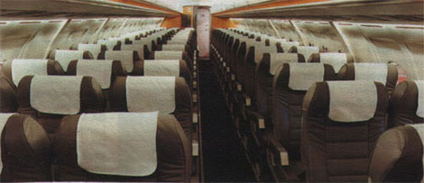 Komfortable Auslegung in einer Avro RJ85 mit 80 Sitzplätzen/Courtesy: Lufthansa Cityline