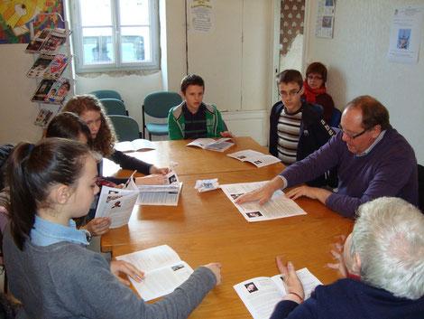 Etude des livrets par petits groupes