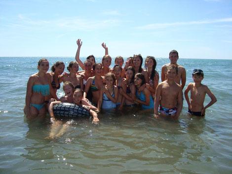 La récompense : baignade aux Stes-Maries-de-la-Mer