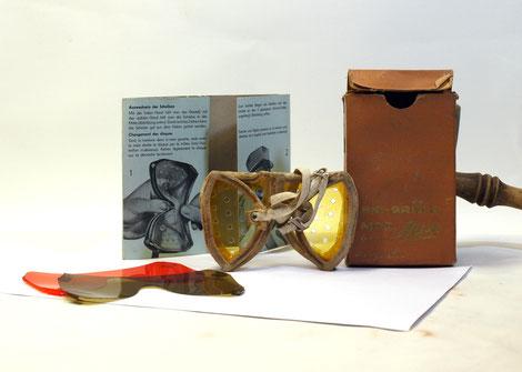 Wann wurde diese Schweizer Skibrille gefertigt?