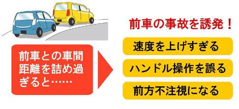 車間距離を詰めることの危険性