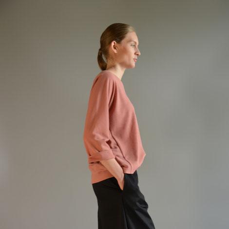 ASCK roséfarbenes Shirt aus GOTS-zertifizierten Wollstoff