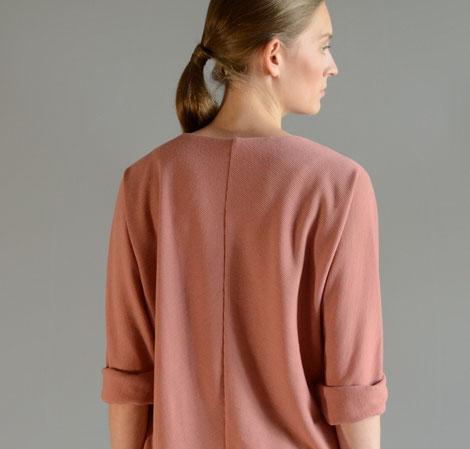 ASCK rosefarbenes Shirt aus GOTS-zertifizierten Wollstoff