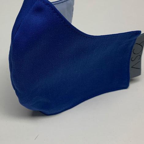 ASCK Maske/ Mund-und Nasenbedeckung aus GOTS-zertifizierten Baumwolle-Popeline-Popeline.