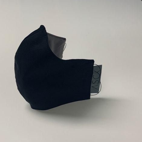 ASCK Mund- und Nasenbedeckung aus GOTS-zertifizierten Baumwolle-Popeline-Popeline