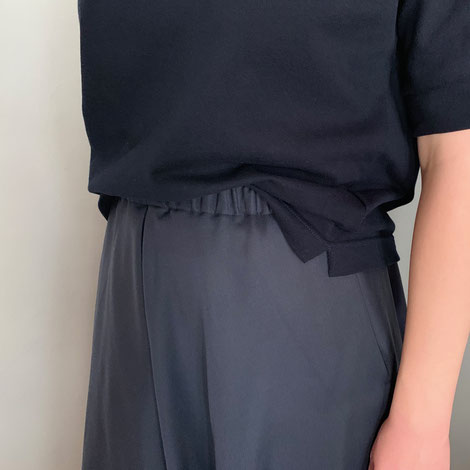 ASCK Shirt N° 02 dunkelblauer Baumwoll-Pikee aus kontrolliert biologischen Anbau, vegan, Handmade in Germany
