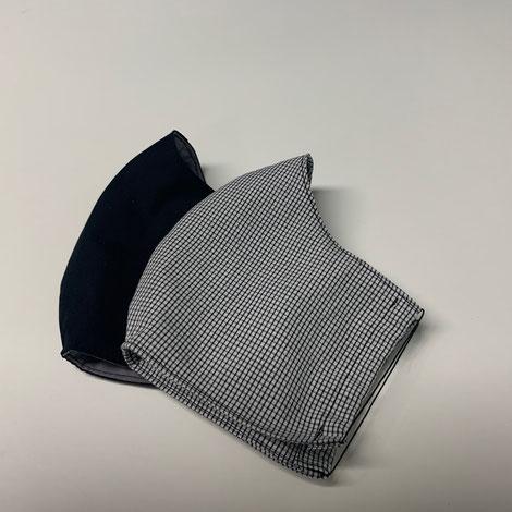 ASCK Mund- und Nasenbedeckung aus GOTS-zertifizierten Baumwolle-Popeline-Popeline.