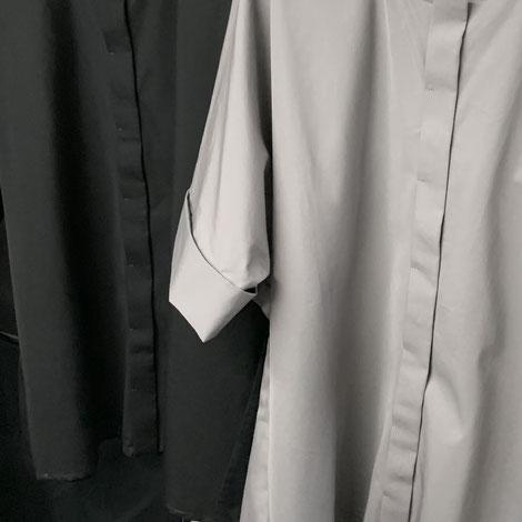 ASCK Bluse N° 02 aus grauen Baumwoll-Popeline aus kontrolliert biologischen Anbau hergestellt. Der Stoff ist GOTS-zertifiziert.