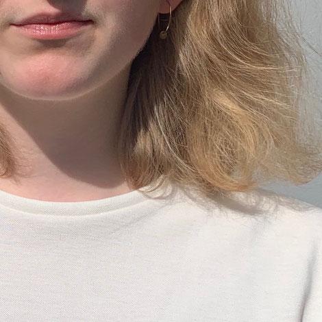 ASCK Shirt N° 02 ecru, naturfarbener Baumwolle-Pikee aus kontrolliert biologischen Anbau (kbA), vegan, Handmade in Germany.