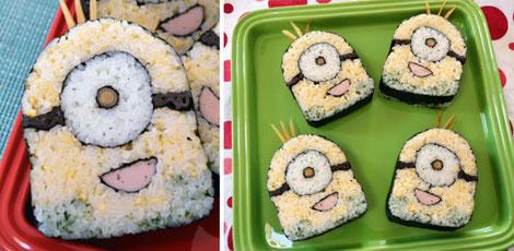 Sushi de dibujos animados