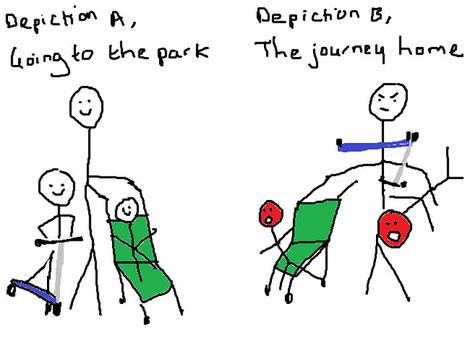 Bajar al parque