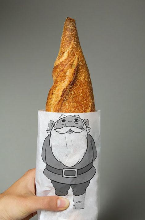 Este diseño evita que el pan llegue a casa empezado!