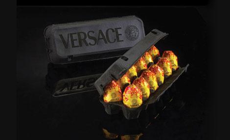 Los huevos frescos de Versace