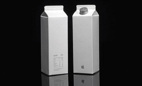 Tetrabrik para leche marca Apple