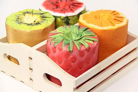 Papel higiénico de frutas
