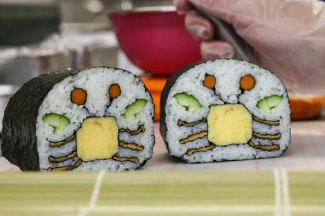 Sushi del Burger Cangreburger de Bob Esponja.