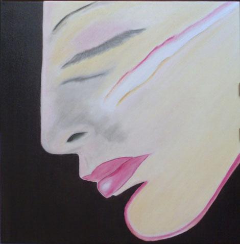 self portrait oil cm.50 x 50 2009
