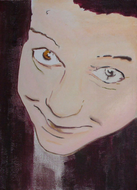 Sara - la vita davanti olio su tela 60 x 40 2009