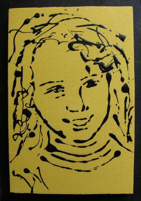 Erika -  - smalto acrilico su polistirene - cm 20 x 30