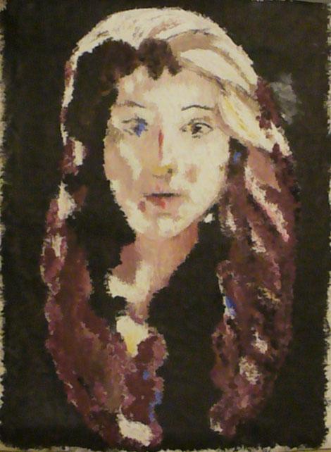 Sara olio a spatola 60 x 40 cm 2009