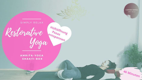 Restorative Yoga Hüftöffnung | Online Abo Yoga@Home