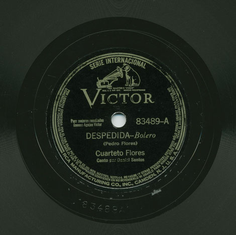 "Victor 83489-A, ""Despedida""."