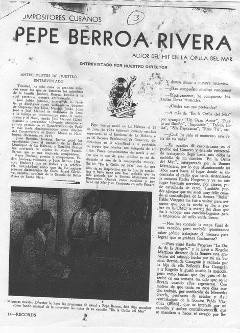 Página No. 1, entrevista a José Berroa.