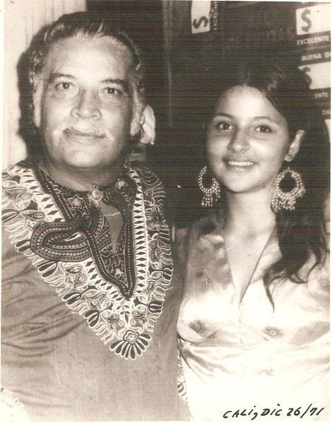Daniel Santos y Luz Dary Padredrin, Cali 1971.  (Foto Carlos Molina)