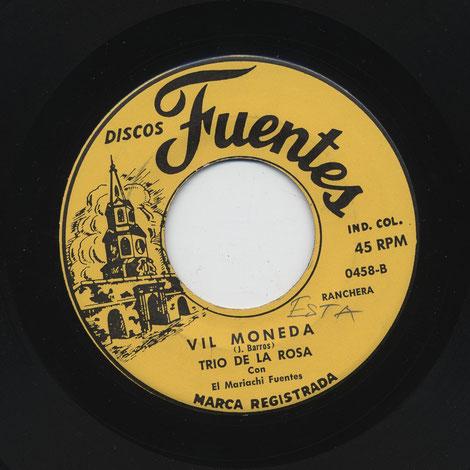 """Fuentes 0458-B, """"Vil moneda""""."""