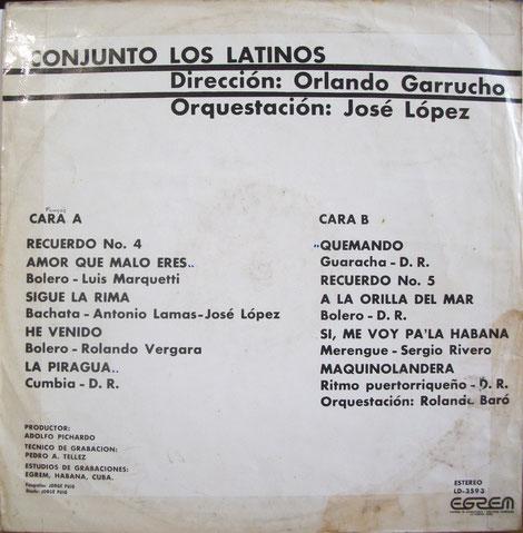 LP Areito 3593, títulos y autores.
