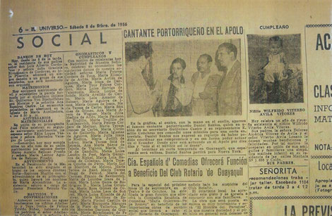 Daniel el sábado 8 de septiembre de 1956.