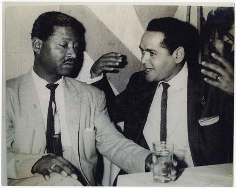Benny Moré y Pacho Alonso.