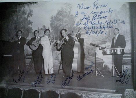 Conjunto de Wiso Rivas en 1956.
