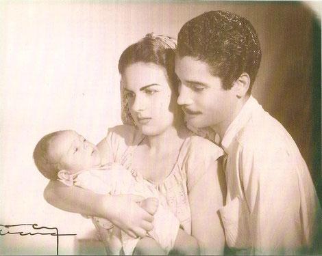 Danielito, Eugenia Pérez y Daniel Santos.