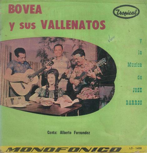 Bovea y sus Vallenatos y La Música de José Barros - Frontal.