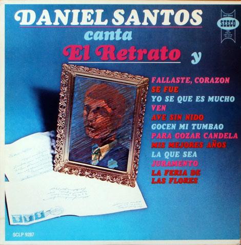 """Daniel Santos """"El retrato"""", Seeco 9287."""