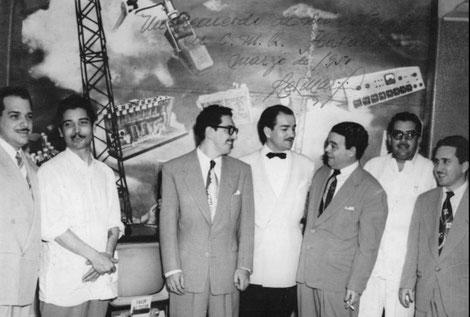 Marzo de 1951, estudios CMQ de La Habana.