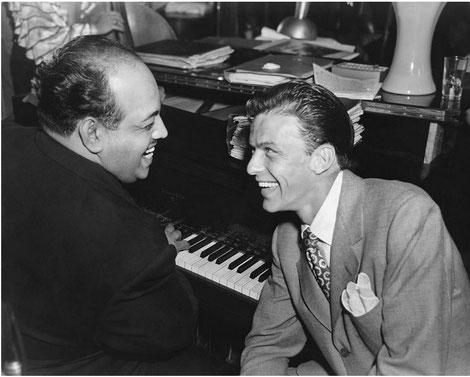 Noro Morales y Frank Sinatra - 1944.