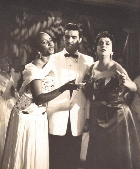 Celia Cruz, Isidro Cámara y Esther Borja.