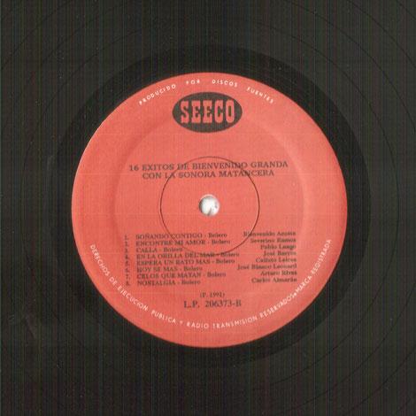 LP Fuentes No. 206373, Cara B.