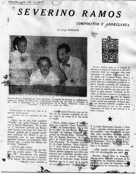 Revista cubana Records, año 1952. (Dar click sobre la imagen para ampliar)