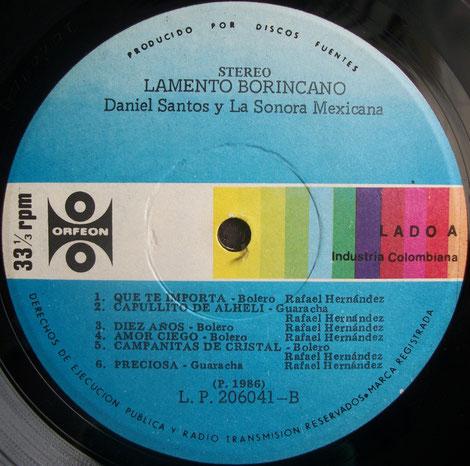 Orfeón 120 - B, grabación más conocida en latino-américa.
