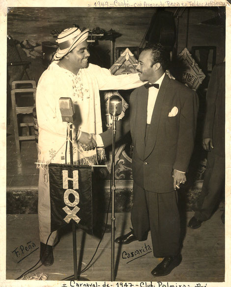 Cascarita en Panamá - 1947.  Imagen Cortesia de Mario García Hudson.